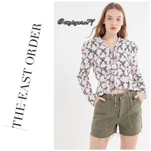 NWT, UO, The East Order Edi Floral Lace Up Top